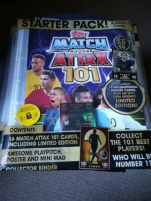 Topps Match Attax 101 The Best Players! Trading Card Game Starter Pack Modric