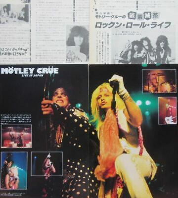 MOTLEY CRUE in JAPAN NIKKI SIXX TOMMY LEE VINCE NEIL 1985 CLIPPINGS ML 9S 7PAGE