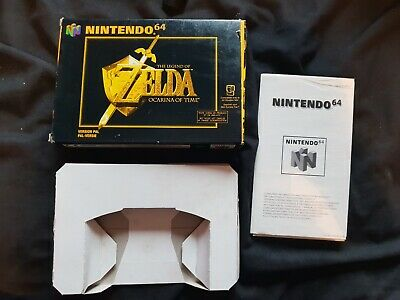 THE LEGEND OF ZELDA OCARINA OF TIME Nintendo 64 Game Box ONLY N64 FRENCH