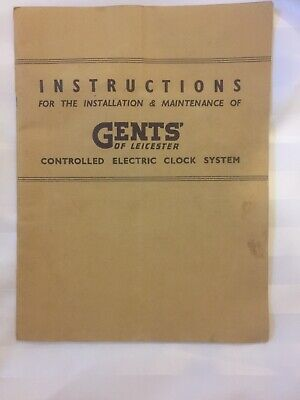 Gents Master Controlled Electric Clock System Instructions