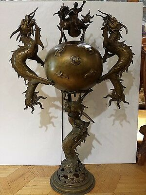 Real Antique Large Chines Bronze Incense Burner 18th Century
