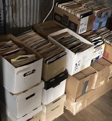 "Lot of 50 Random 45 rpm Vintage 7"" Vinyl Records Jukebox Rock Pop Country Soul"
