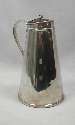 A WAS Benson silver plated double walled hot water jug