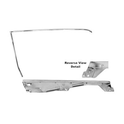 65 - 66 Mustang Coupe Door Window Frame Kit - Left / Driver Side
