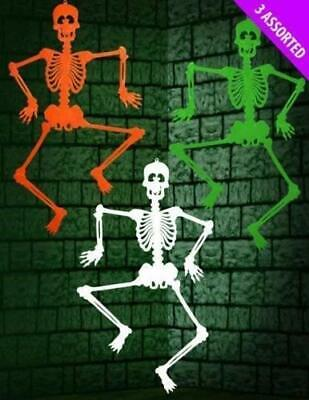 "3 x 36"" Large Halloween Hanging Skeleton Party Decoration Prop Scary Fun"