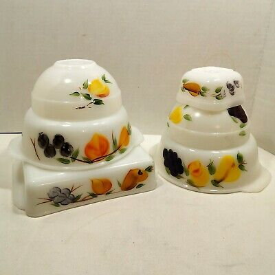 Anchor Hocking Fire King Ovenware Gay Fad Fruits lot 6 pieces Vintage 1960s