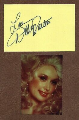 DOLLY PARTON Country Singer SONGWRITER Actress +++ CARD SIGNATURE + Photo