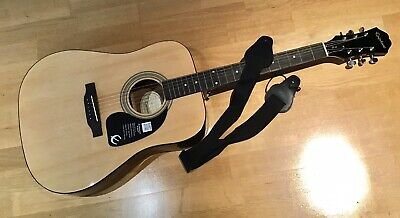 Epiphone Dr 100  Acoustic Guitar 2015 Exceptionally  Good Barely Used + Strap