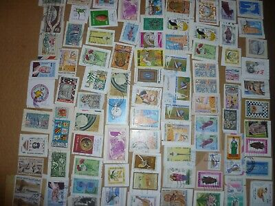 40 grams mixtures Tunisia stamps on single paper kiloware