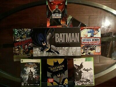 Batman: The Complete Animated Series Box Set; Dvd Lot with 2 Xbox 360 Games