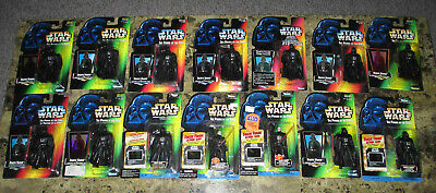 Lot of 14 Star Wars Darth Vader Power of the Force 2. Retooled Vader and THX NR