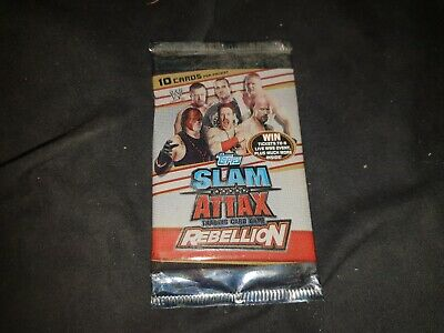 WWE SLAM ATTAX REBELLION Trading Card Game Sealed Booster Pack 2013 Topps