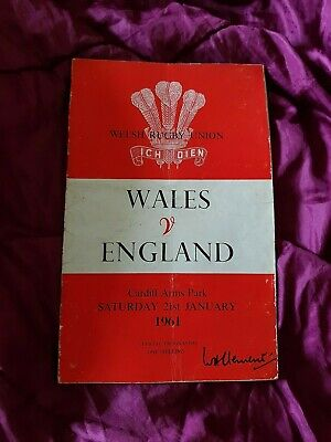 Wales vs. England - 21/1/1961 - Signed by Peter Rees