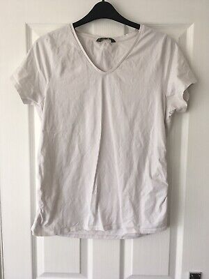 Mothercare Blooming Marvellous Maternity White V-neck T-shirt, Size XL