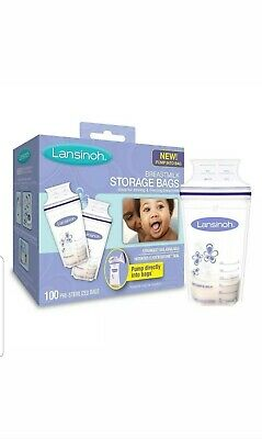 Lansinoh Breastmilk Storage Bags - (100 ct each box) NEW SEALED
