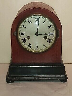 Antique Mantel Gustav Becker Striking  Clock  With Key & Pendulum