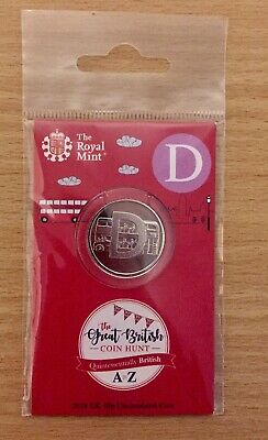 Royal Mint New 10p coin 2018 letter D In sealed pack..uncirculated