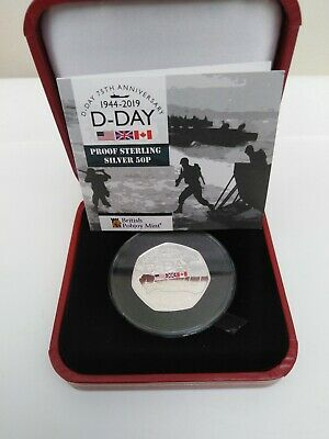 2019 Gibraltar D-Day 75th Anniversary 50p Pobjoy Mint.