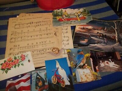 Vintage Crafting Lot Altered Art, Mixed Media, Collages, Scrapbooking