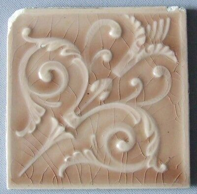 Old Bridge Tile Victorian Torch Antique Ceramic New Jersey Antique Pottery