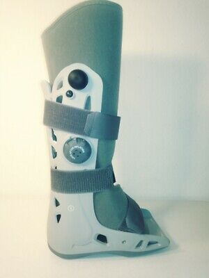 Aircast SoftStrike Walking Cast Boot Size Medium Gray, Unisex, Inflatable Cast