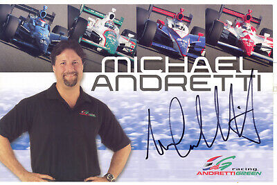 Michael Andretti Autographed Andretti Green Racing IndyCar Indy 500 Hero Card!