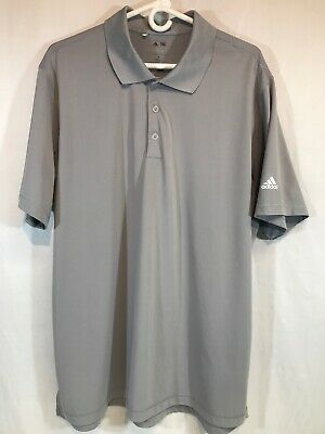 Adidas Puremotion Golf Polo Short Sleeve Shirt Stretch Mens Sz XL GRAY