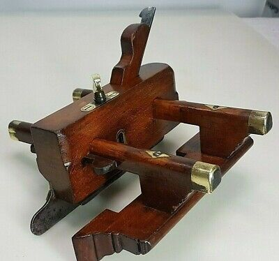 Antique Alex Mathieson No 5B Wood Plough Plane,brass fittings Carpenters tool