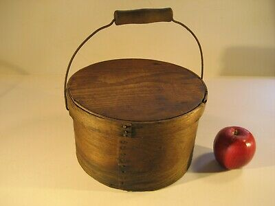 Antique Oak Pantry Box With Bail Handle