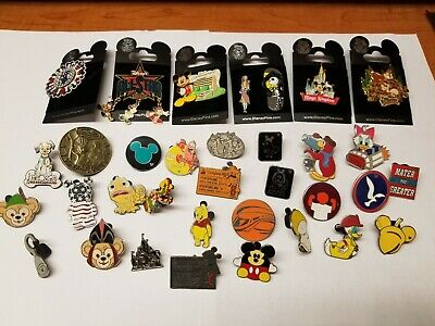 Lot 33 Walt Disney Trading Pins 6 New/Used  Epcot Noreserve