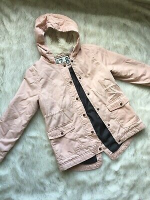 Girls Pink cotton on anorak jacket coat size 7-8 good preowned condition