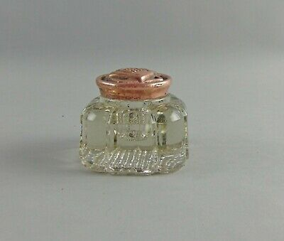 1898 Antique English Arts & Crafts Period Glass Inkwell w/Copper Lid Reg #319422