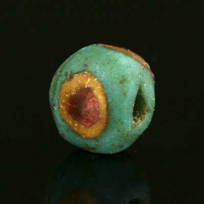 Ancient glass beads: Medieval mosaic cane eye bead, 7-8 century, Mediterranean