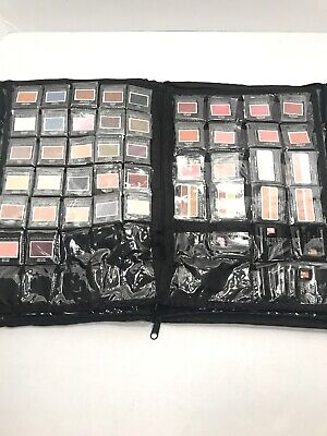 MARY KAY Consultant Organizer Zipper Handled Pouch Case Full Of Makeup Samples