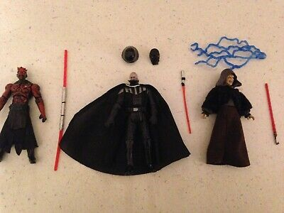 "Star Wars Sith Lot Evolutions Darth Maul, Vader, Darth Sidious 3.75"" figure"