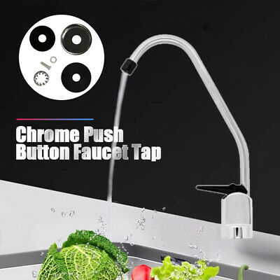 Chrome Push Button Faucet Tap  for Undersink Drinking Water Filter System