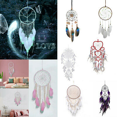 11 Styles Feather Lace Dream Catcher Dreamcatcher Gift Home Car Wall Handmade