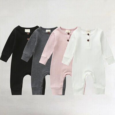 Newborn Infant Baby Girls Boy Romper Jumpsuit Bodysuit Casual Clothes Outfit New