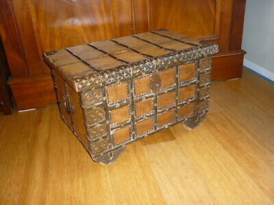 Vintage post 1950's South Asian wooden interesting metal decoration VGC