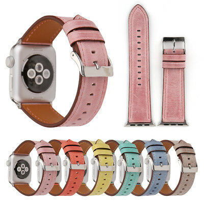 40/44mm Retro iWatch Leather Strap Casual Band for Apple Watch Series 5 4 3 2 1