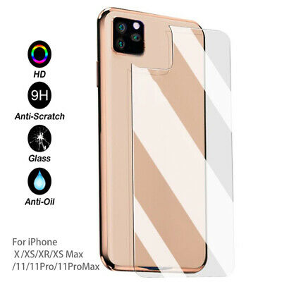 HD Soft Tempered Glass Back Film Protector For iPhone 11 11 Pro Max X XS Max New