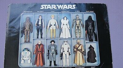 CARDBOARD INSERT~ VINTAGE Star Wars MINI-ACTION FIGURE COLLECTOR'S CASE KENNER