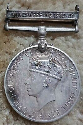 Naval General Service Medal with Mine Sweeper Bar 1945-51 Silver