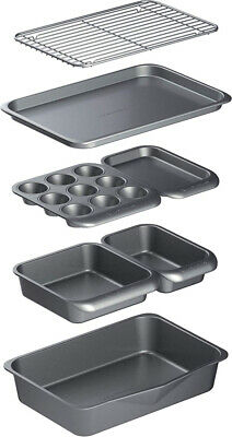 MasterClass Smart Space Non-Stick Carbon Steel Stackable Bakeware and...