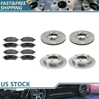Fits Toyota Supra Front Rear Black Drill Slot Brake Rotors+Ceramic Brake Pads