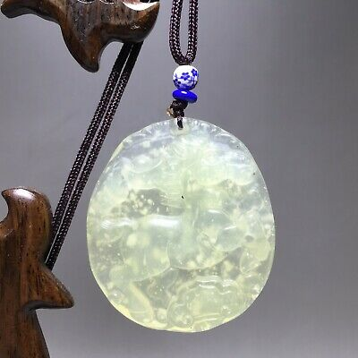 BEAUTIFUL100% Natural Hand-carved Green Jade Pendant Jadeite Necklace Horse 玉马+