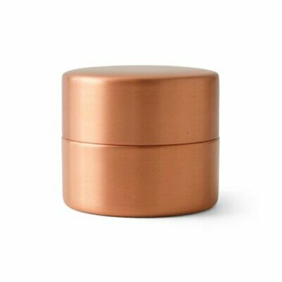Copper Tea Coffee Caddy Container S Azumaya Japanese Sado Seal Up Leaf Case