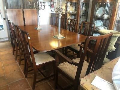 Antique Style Mahogany Dining Table and 8 Chairs Made in England