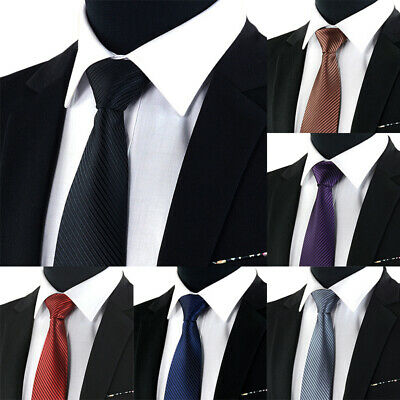 Jacquard Woven New Fashion Classic Striped Tie Men's Silk Suits Ties Necktie  bh
