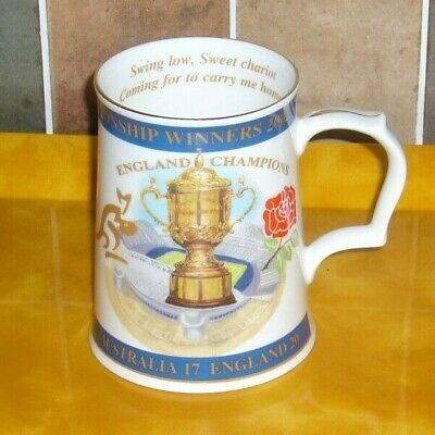 England Rugby Union World Cup Winner ceramic tankard 2003 Aynsley Pottery Ltd Ed